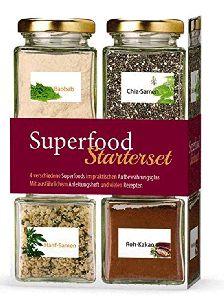 Superfood Starterset. Rohkost - naturbelassen und glutenfrei.