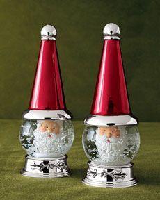 Image result for Christmas snow globe salt and pepper