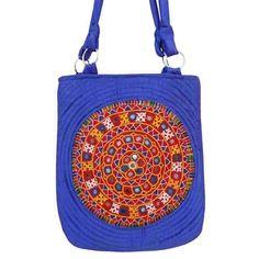 Blue Satin Bag