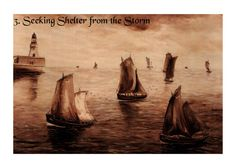 Pack of 5 Fine Art Print Cards: Seascapes by Nibz (Set 2)