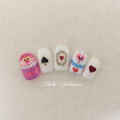 nail nail storage nail nail seating korean style on a budget Food Nail Art, Gel Nail Art, Cute Nail Art, Cute Nails, Soft Nails, Pastel Nails, Alice In Wonderland Nails, Korean Nail Art, Hello Kitty Nails