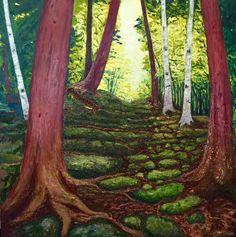 Landscape Paintings, Plants, Landscape, Plant, Landscape Drawings, Planting, Planets