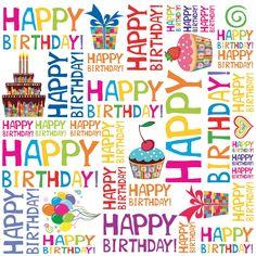 happy birthday seamless background pattern in vector Happy Birthday Wishes Cards, Birthday Wishes And Images, Birthday Blessings, Happy Birthday Pictures, Happy Wishes, Birthday Wishes Quotes, Happy Birthday Funny, Happy Happy Happy, Seamless Background