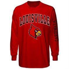 Louisville Cardinals Red Big Arch N' Logo Long Sleeve T-Shirt