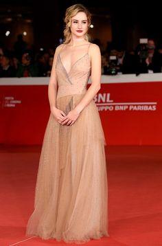 Grace Van Patten in Valentino @ Tramps premiere during 2016 Rome Film Festival