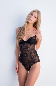 Black lingerie angelica