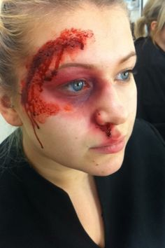 Sfx makeup cuts and bruises #makeup