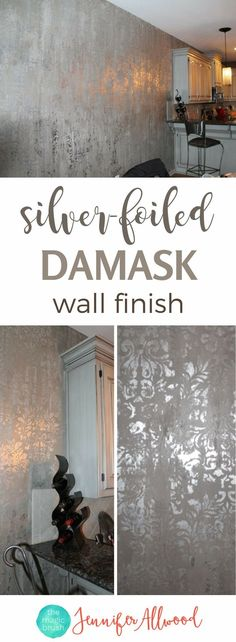 Accent Wall Decor, Accent Walls, Damask Wall, Farmhouse Style Bedrooms, Modern Farmhouse, Focal Wall, Wall Finishes, My New Room, Wall Collage