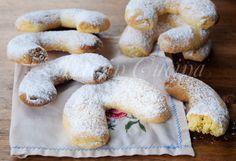 Vanillekipferl biscotti alle mandorle austriaci, biscotti da regalare a Natale, ricetta facile, veloce, colazione, merenda, dolci per bambini, biscotti vaniglia