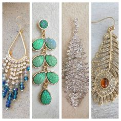 Sparkling Statement Earrings <3