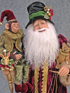 Diane Troutman -- love her style-I lpve this Santa and the monkey sooo much-Louise Glass