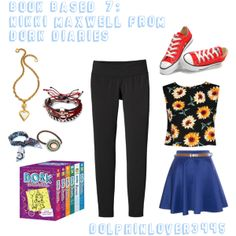 """""""Book Based #7: Nikki Maxwell from Dork Diaries by Rachel Renée Russell"""" by dolphinlover3445 on Polyvore"""