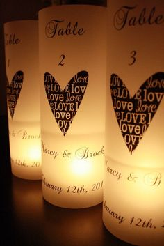 Candles!! Great idea for a Wedding or Anniversary could also add a picture!