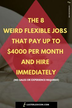 8 Easy Side Jobs that are flexible & require no experience - Luster Lexicon Ways To Earn Money, Earn Money From Home, Earn Money Online, Online Jobs, Way To Make Money, Money Saving Tips, Money Tips, Money Budget, Money Fast