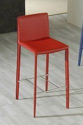 """825H Modern Red Barstool by VIG. $199.00. Color: Red Texture: Leatherette Weight: 21 Dimensions: W19.5"""" x D18"""" x H39.5"""" Manufacturer: Modern Furniture by VIG"""