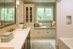 House of Turquoise: Renae Keller Interior Design | Window seat build for the kitchen
