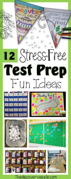 12 Stress-Free Test Prep Fun Ideas - The Discovery Apple