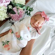 A sweet new addition!  @chelseakoerten  Watercolor Rose Muslin available at spearmintLOVE.com