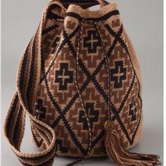 Handmade Susu Bags from the Wayuu Taya Foundation Mochila Crochet, Tapestry Crochet Patterns, Look Boho, Tapestry Bag, Boho Bags, Crochet Purses, Cute Bags, Knitted Bags, Crochet Accessories