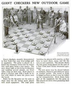 Giant Outdoor Games DIY | Archive Gallery: Board Games Weren't Always Fun | Popular Science