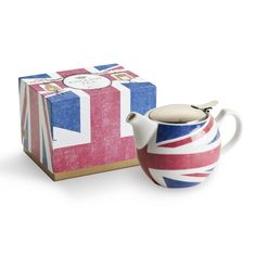 Tea for Two...with our Union Jack English Teapot www.TheShoppingBagStore.com  #teapot, #tea, #union jack, #english, #london,