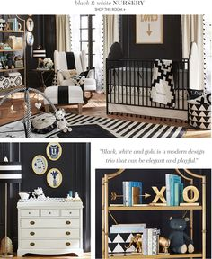 Emily & Meritt Black & White Nursery--they have some AWESOME accessories etc.!