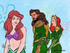 Mermaid and Aquaman Marvel Actors, Marvel Art, Thor Marvel, Avengers, Aquaman, Dc Comics, Fanart, Dc Legends Of Tomorrow, Marvel Funny
