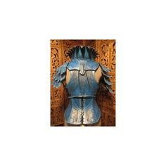 women's Leather Armor- Blue Jay 2 by SavagePunkStudio ❤ liked on Polyvore featuring fantasy