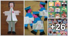 30 Atividades sobre profissões para o dia do trabalho Preschool Crafts, Crafts For Kids, Community Helpers Preschool, 30, Education, Logos, Facebook, Rose, Educational Activities
