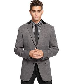 Fitzgerald Fit Harris Tweed Sport Coat Black-White | Brooks