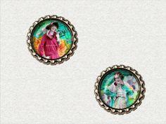 f053 Kronkorken Magnet Set Vintage Ladies t, bottlecap von Mondcatze´s Zauberwerkstatt auf DaWanda.com
