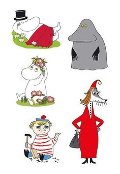 Tove Jansson, Moomin Valley, Book Characters, Fictional Characters, Old Cartoons, Chalkboard Art, Little My, Pattern Illustration, Funny Cute