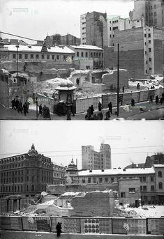 """Bucuresti, Inainte de """"Lumea Copiilor"""", 1948 Calea Victoriei - b-dul 6 Martie (Elisabeta) ROMARTA COPIILOR Martie, Bucharest, Old City, New York Skyline, Travel, Romania, Old Town, Viajes, Traveling"""