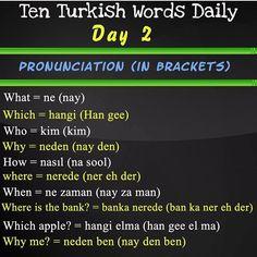 Sms Language, Language Quotes, Language Lessons, Learn Turkish Language, Learn A New Language, Good Vocabulary Words, English Vocabulary, Learning Arabic, Learning Spanish