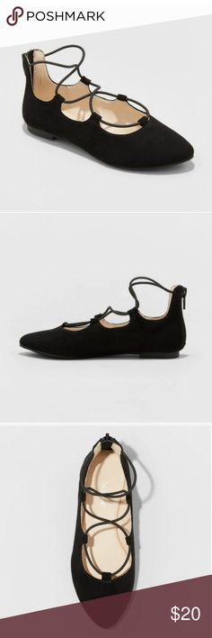 Girls Size 2 Black Suede Feel Cat /& Jack Comfy Slip On Dress Shoes NEW