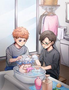 Anime Siblings, Anime Child, Familia Anime, Butler Anime, A Silent Voice, Rap Battle, Gaara, Cute Anime Guys, Cute Gay