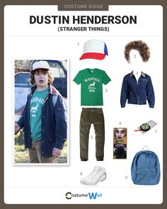 Get Dustin Henderson's costume from the popular Netflix TV series, Stranger Things, as played by Gaten Matarazzo.