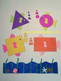 Preschool and Homeschool Preschool Classroom Decor, Preschool Crafts, Class Decoration, School Decorations, Montessori Activities, Preschool Activities, Preschool Shapes, Kids Crafts, Construction Paper Crafts