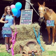 MY pregnancy announcement! Both me and horse are mommies-to-be!!! Photography by Ten:23 Photography hair, make-up and chalkboard signs by Laura Franklin!  Chelsea Franklin