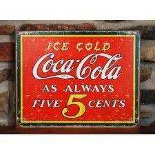 Coca-Cola Always 5 Cents Tin Sign