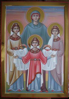 Αγία Σοφία & οι θυγατέρες της Πίστις, Ελπίς, Αγάπη / St. Sophia & her daughters Pistis, Elpis, Agape