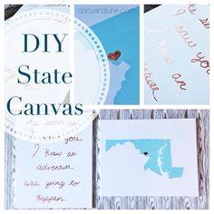 DIY State Canvas, Anniversary Gift, daisyandjune.com