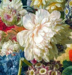 nataliakoptseva: Paulus Theodorus van Brussel - Flowers in a Vase Detail Art Floral, Motif Floral, Etiquette Vintage, Baroque Painting, Oil Painting Flowers, Art Plastique, Botanical Prints, Beautiful Artwork, Oeuvre D'art