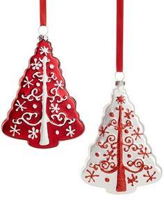 Holiday Lane Glass Tree Ornaments