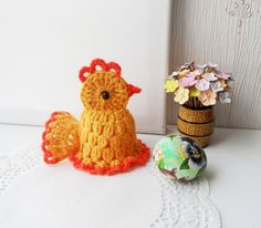 Hand Crochet Easter Egg Cosy, Egg Warmer, Crochet Easter Chicken, Decoration  in Crafts, Needlecrafts & Yarn, Crocheting & Knitting   eBay!