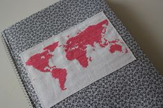 Embroidery World Map