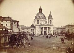 Plac Trzech Krzyży z kościołem św. Aleksandra, fot. Konrad Brandel (ok. 1895)