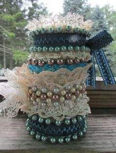 This is, hands down, one of my favorite cuff bracelet tutorials.  Made of lace, fabric scraps, and beads.  They are fun, pretty and easy to make.