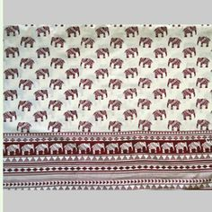Recently designed elephant print fabric,  with unique tribal look.