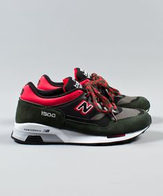 New Balance at Weavers Door | New Balance | AW14 | M1500 Made in England | Green/Red/Grey | £115.00